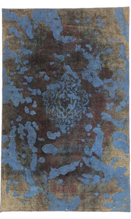 6 x 10 Vintage Overdyed Rug 60626