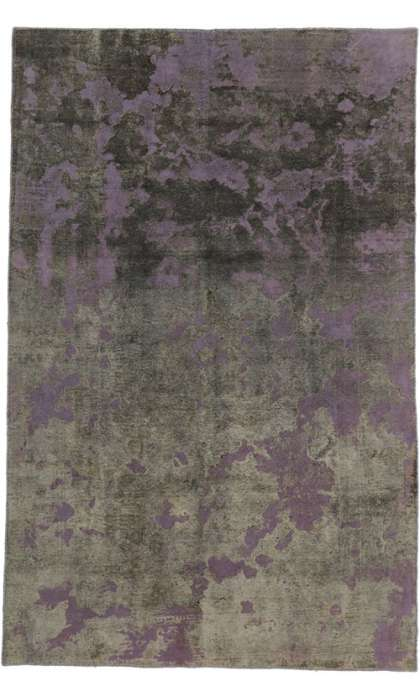 6 x 10 Vintage Overdyed Rug 60627