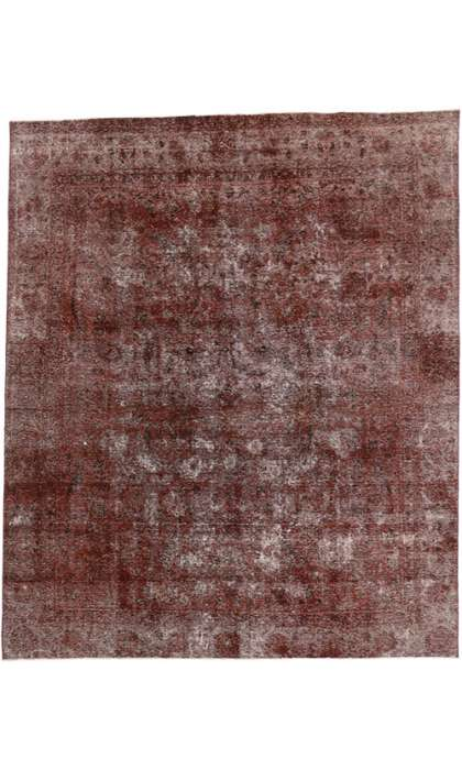 9 x 11 Vintage Overdyed  Rug 60667