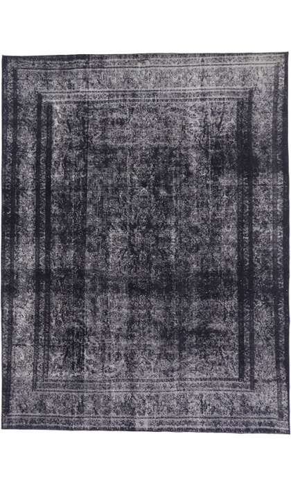 9 x 12 Vintage Overdyed Rug 60692