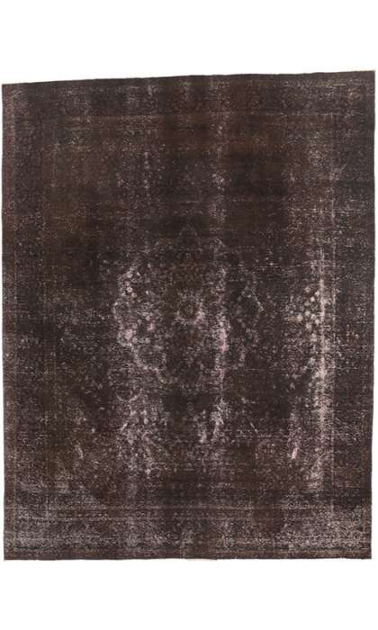 10 x 13 Vintage Overdyed Rug 60694