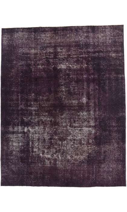 9 x 12 Vintage Overdyed Rug 60695