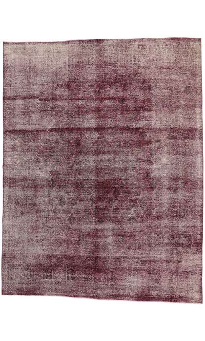 10 x 13 Vintage Overdyed Rug 60696