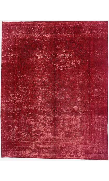 9 x 12 Vintage Overdyed Rug 60722