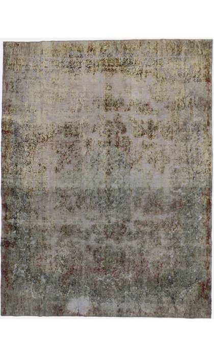 10 x 13 Vintage Overdyed Rug 60724