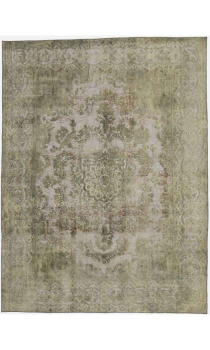 10 x 13 Vintage Overdyed Rug 60725