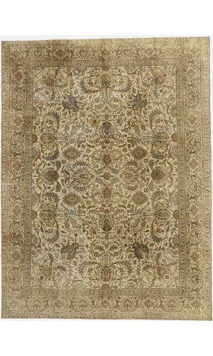 10 x 13 Vintage Tabriz Rug 60728