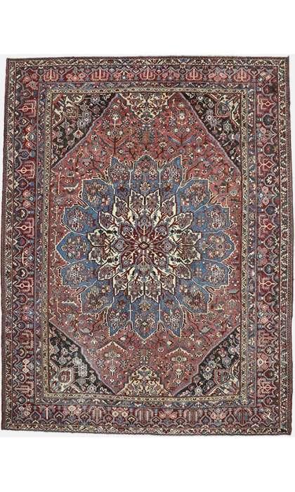 12 x 15 Vintage Persian Bakhtiari Rug 60740