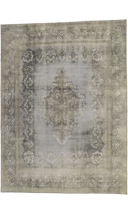 9 x 13 Vintage Overdyed Rug 60762
