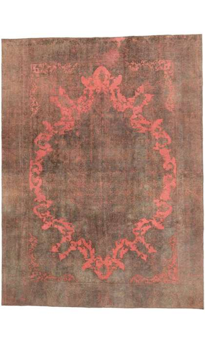 9 x 12 Vintage Overdyed Rug 60767
