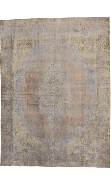 10 x 13 Vintage Overdyed Rug 60768