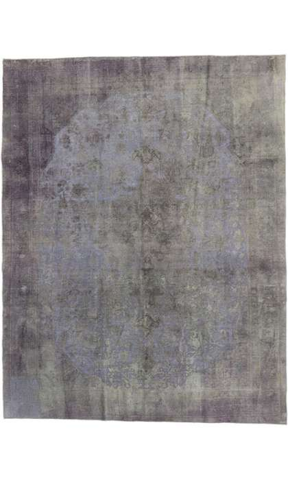 9 x 12 Vintage Overdyed Rug 60773