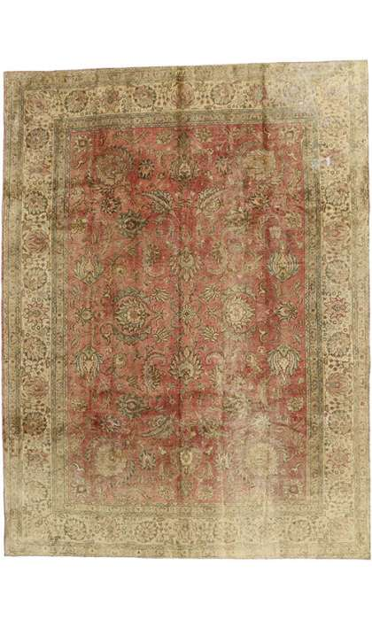 9 x 13 Antique Tabriz Rug 60779