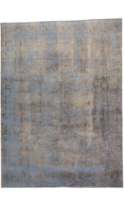9 x 12 Vintage Overdyed Rug 60781
