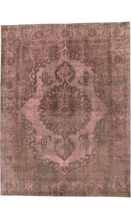 9 x 13 Vintage Overdyed Rug 60789