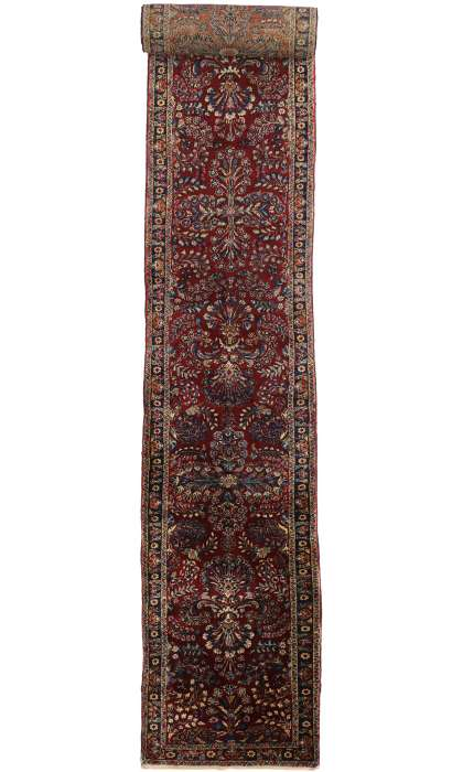 3 x 29 Antique Persian Kerman Rug 77169