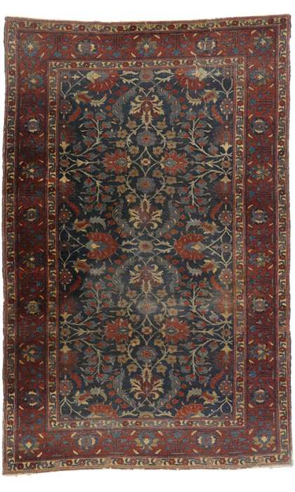 6 x 9 Antique Persian Tabriz Rug 77170