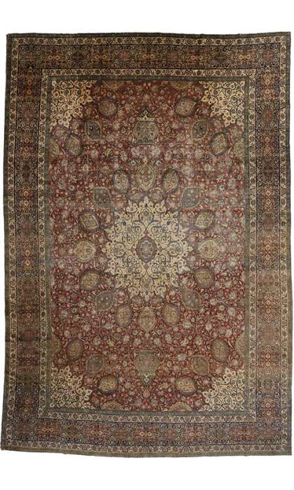 15 x 22 Antique Tabriz Rug 77178