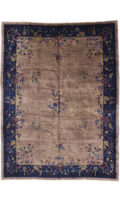 10 x 13 Antique Art Deco Rug 77183