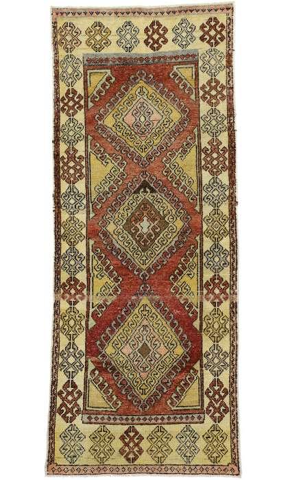 4 x 9 Vintage Oushak Rug 52413