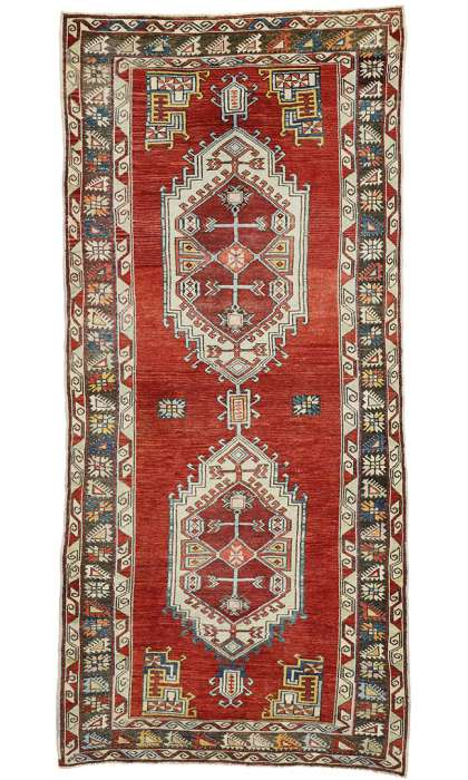 5 x 11 Vintage Oushak Rug 52418