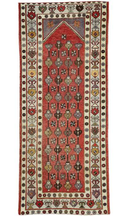 4 x 10 Vintage Oushak Rug 52420