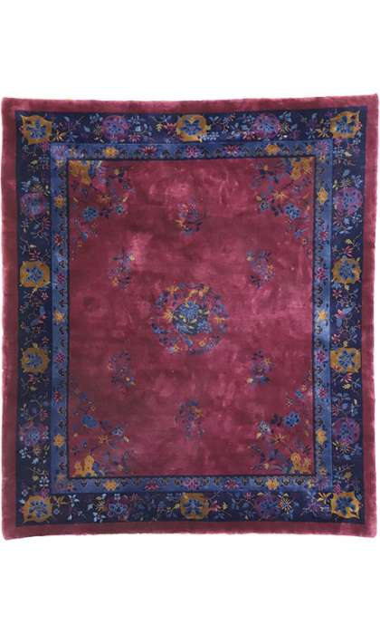 8 x 9 Antique Art Deco Rug 77189