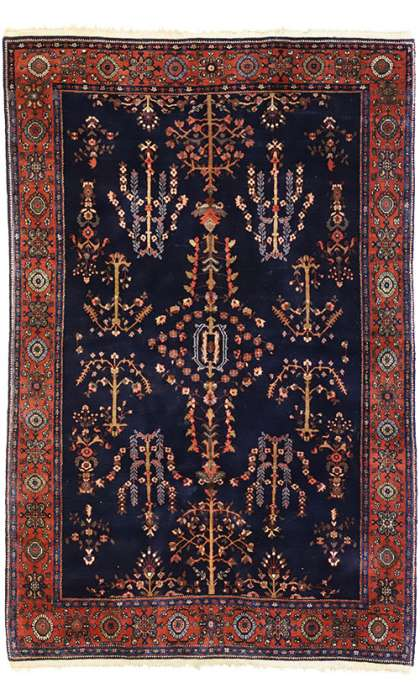 4 x 6 Antique Sarouk Rug 77208
