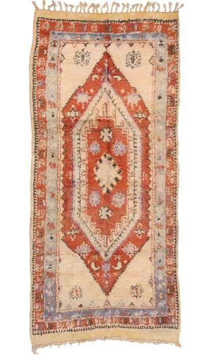 5  X 11 Vintage Moroccan Rug 20034