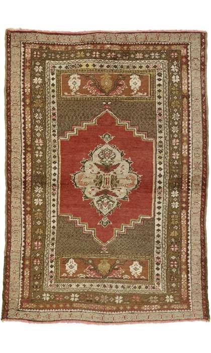 4 x 5 Vintage Oushak Rug 50121