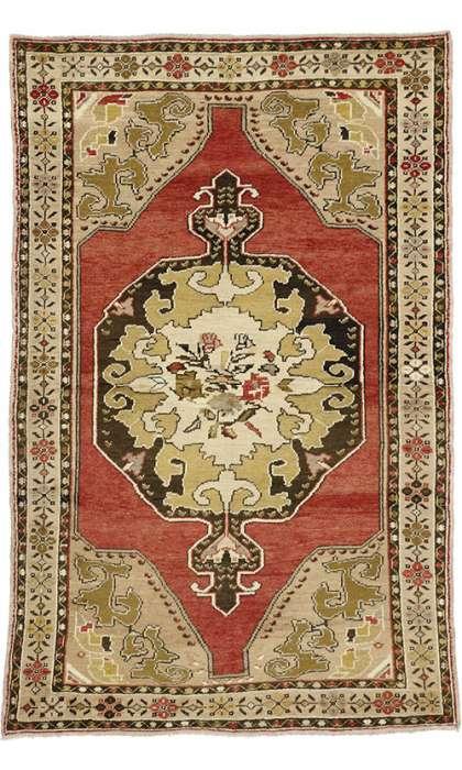 4 x 7 Vintage Oushak Rug 50123