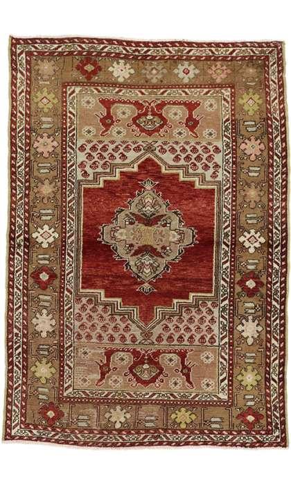 3 x 5 Vintage Oushak Rug 50142