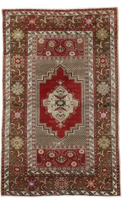 3 x 5 Vintage Oushak Rug 50149