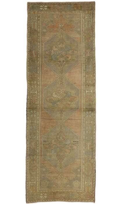 4 x 10 Vintage Oushak Rug 50184