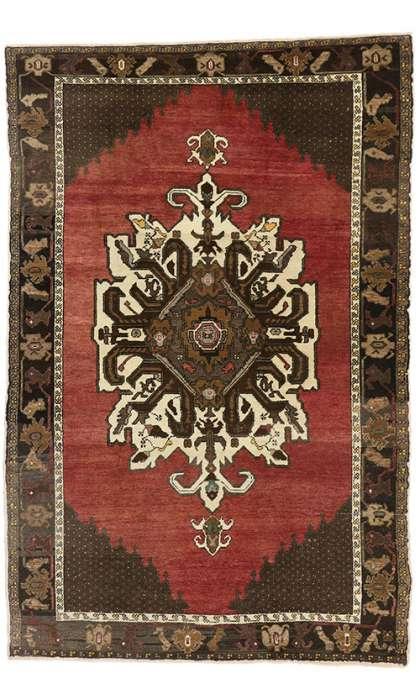 6 x 9 Vintage Oushak Rug 50223