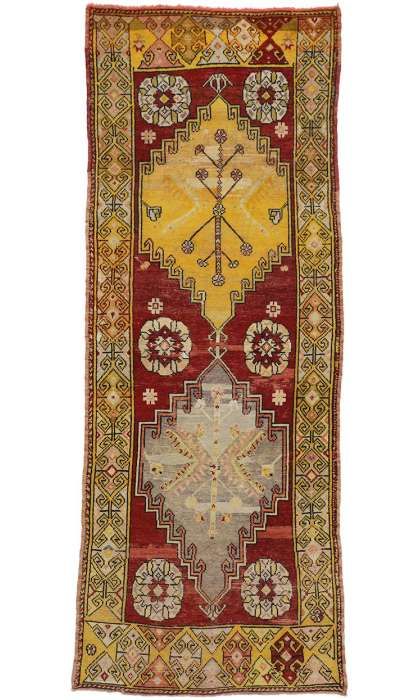 4 x 10 Antique Oushak Rug 50237
