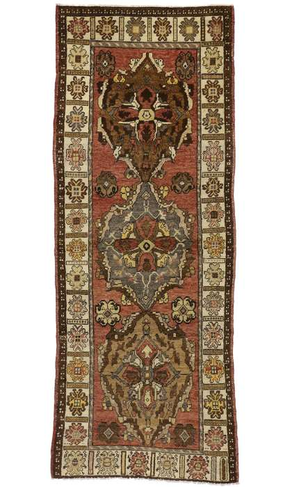 4 x 10 Antique Oushak Rug 50256