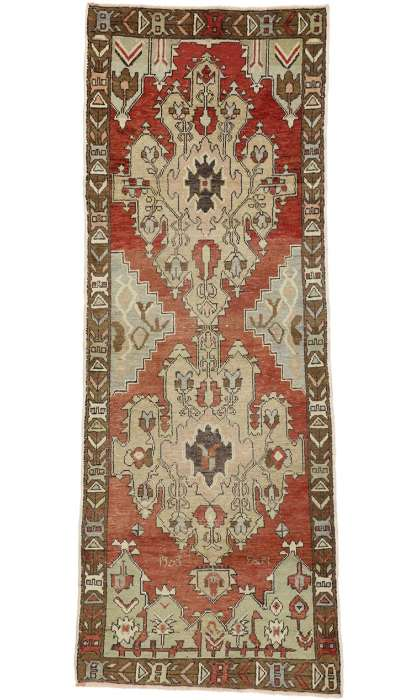 3 x 9 Antique Oushak Rug 50261