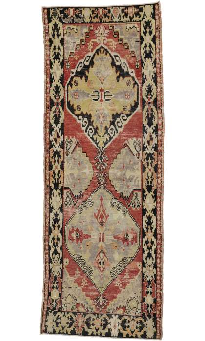 4 x 10 Antique Oushak Rug 50277
