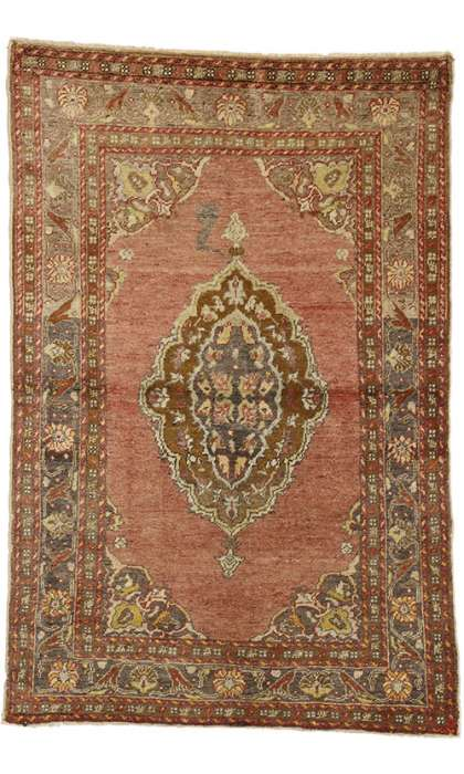 3 x 5 Antique Oushak Rug 50656