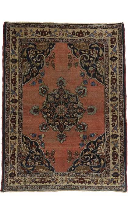 5 x 6 Vintage Kurd Rug 51453