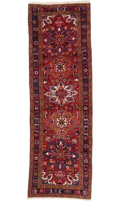4 x 11 Persian Vintage Heriz Rug 60247
