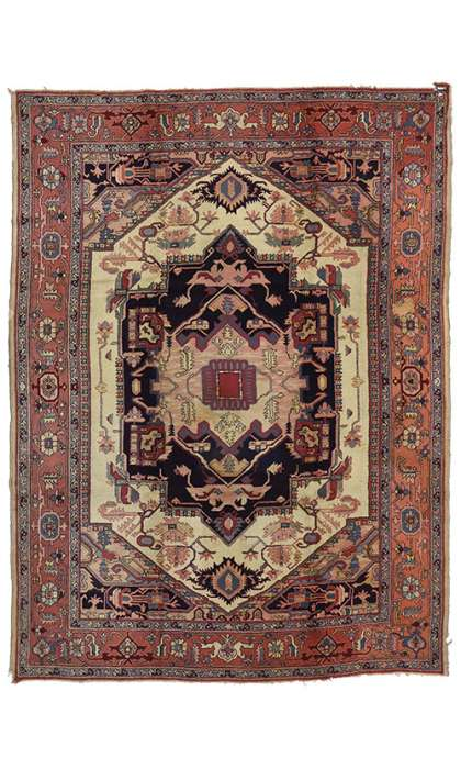 8 x 11 Antique Eur Hook Rug 70713