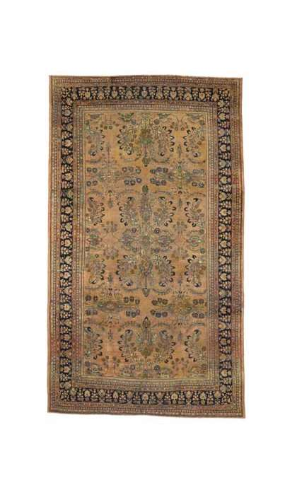 13 x 23 Antique Persian Mahal Rug 72045