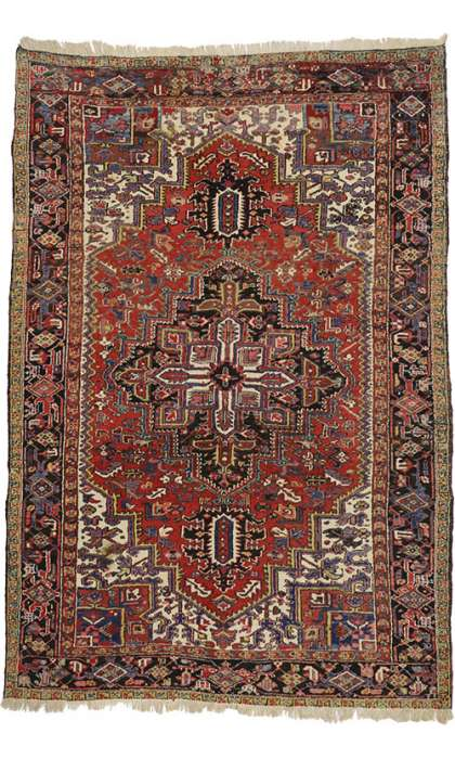 7 x 10 Antique Heriz Rug 72713