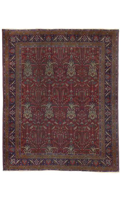 8 x 9 Antique Indian Rug 72879