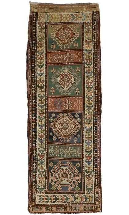 4 x 11 Antique Kazak Rug 72984