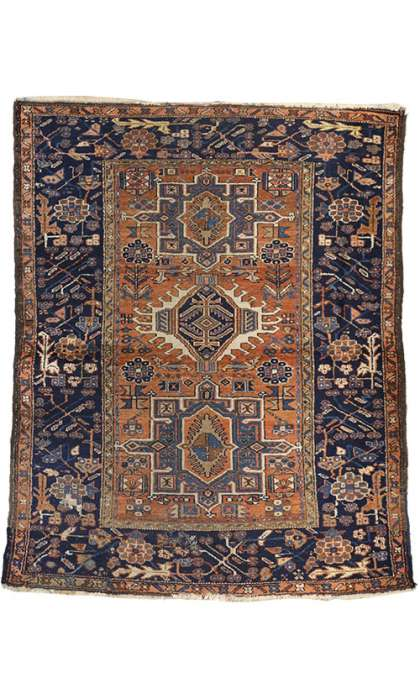 5 x 6 Antique Heriz Rug 72988