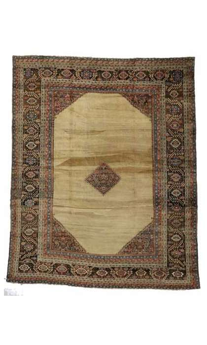 14 x 19 Antique Bakshaish Rug 73055