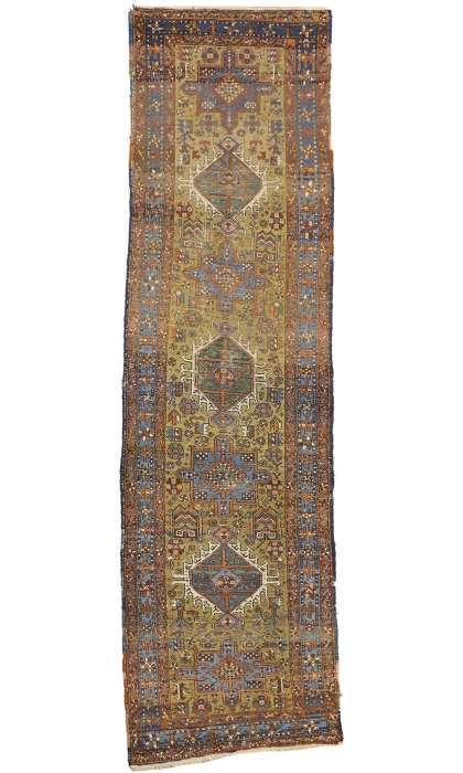 3 x 10 Antique Heriz Rug 73237